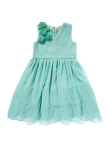 Girls chiffon shoulder dress