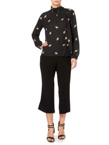 Biba Tailored satin back cropped trousers