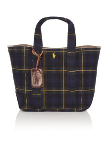 Tartan canvas tote bag
