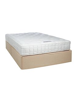 Sleepwell 1000 king padded top divan set cream