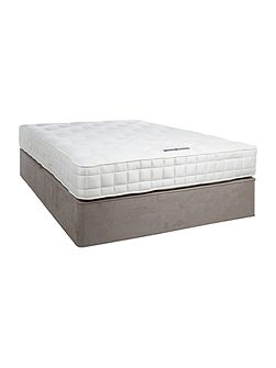 Sleepwell 1200 double padded top divan set grey