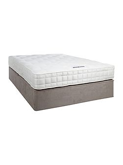 Sleepwell 1200 king padded top divan set grey