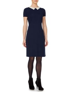Knitted collar dress