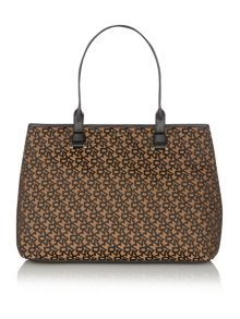 Gold jacquard tote bag