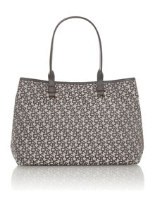 Grey jacquard tote bag