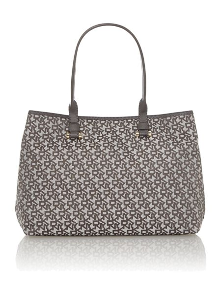 DKNY Grey jacquard tote bag