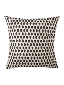 Elca cushion black on linen 60x60