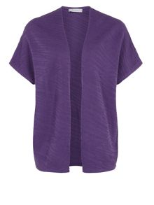 Purple textured cardigan