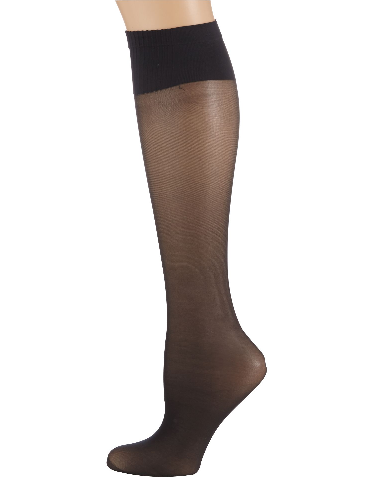Aristoc 2 pair pack 15 denier support knee high socks Black