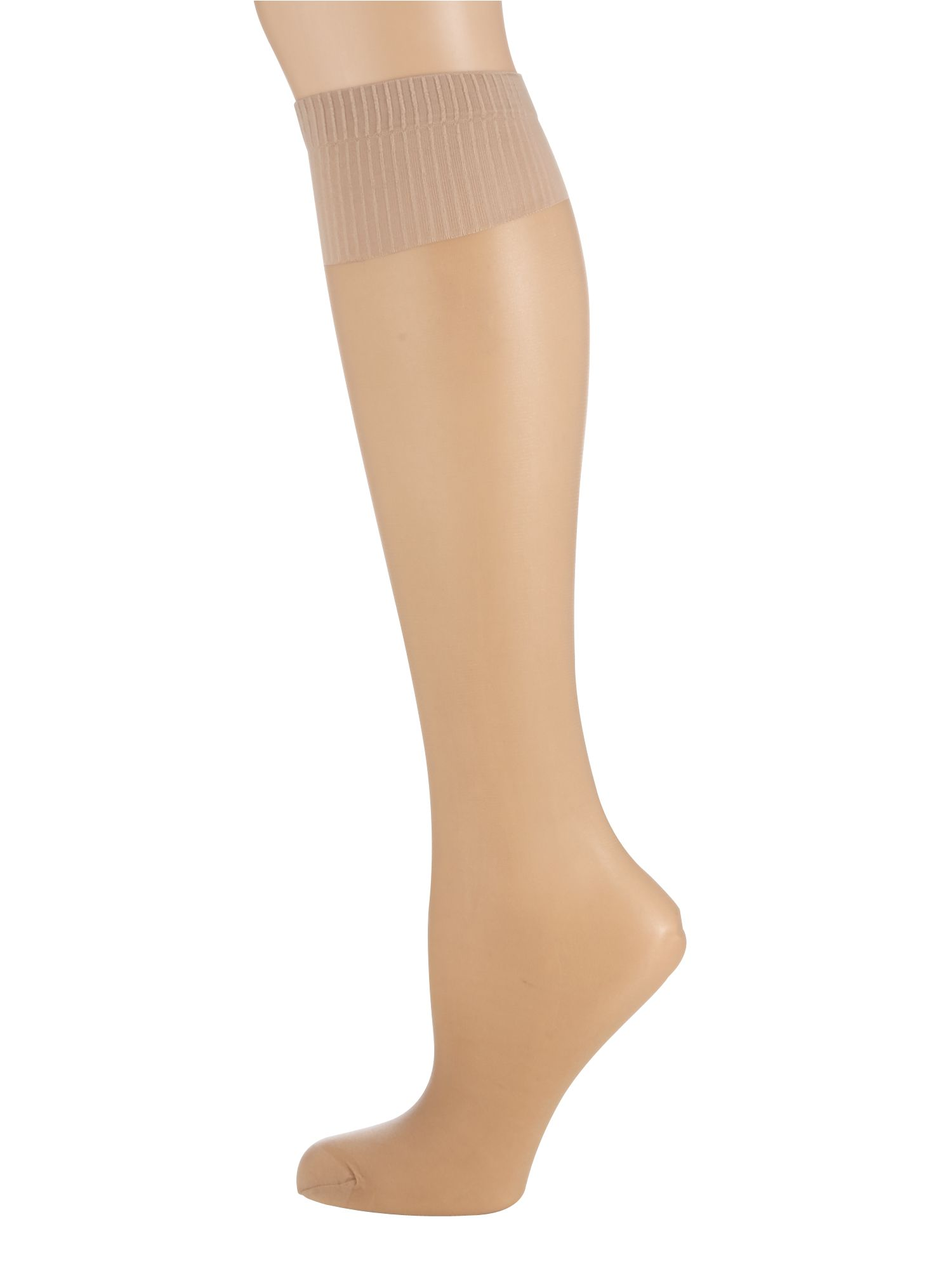 Aristoc Aristoc 2 pair pack 15 denier support knee high socks, Nude
