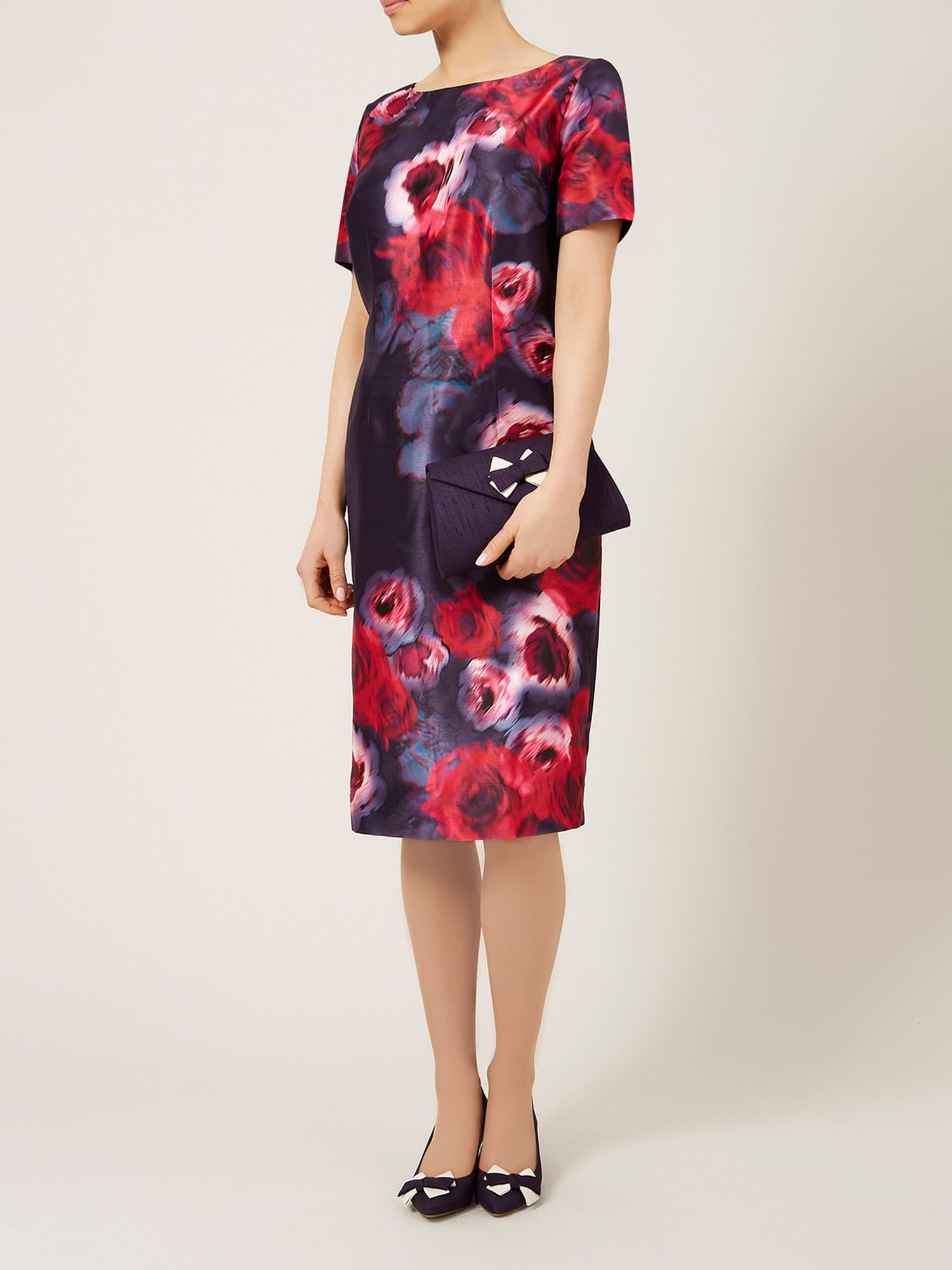 Placement print rose dress