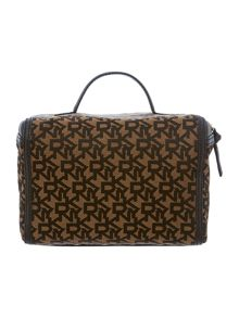 Gold jacquard train case set