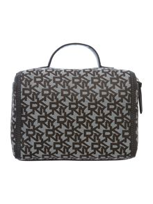 Grey jacquard train case set