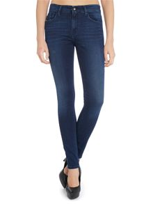 Super Skinny high rise Jean in satin dark stretch
