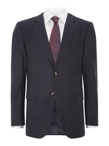 Norman Will slim fit brushed check suit