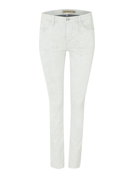 Calvin Klein Mid rise super skinny jeans in eroded white