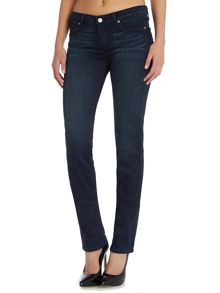 Paige Skyline straight leg jeans in mid lake