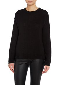 Round neck long sleeved knit
