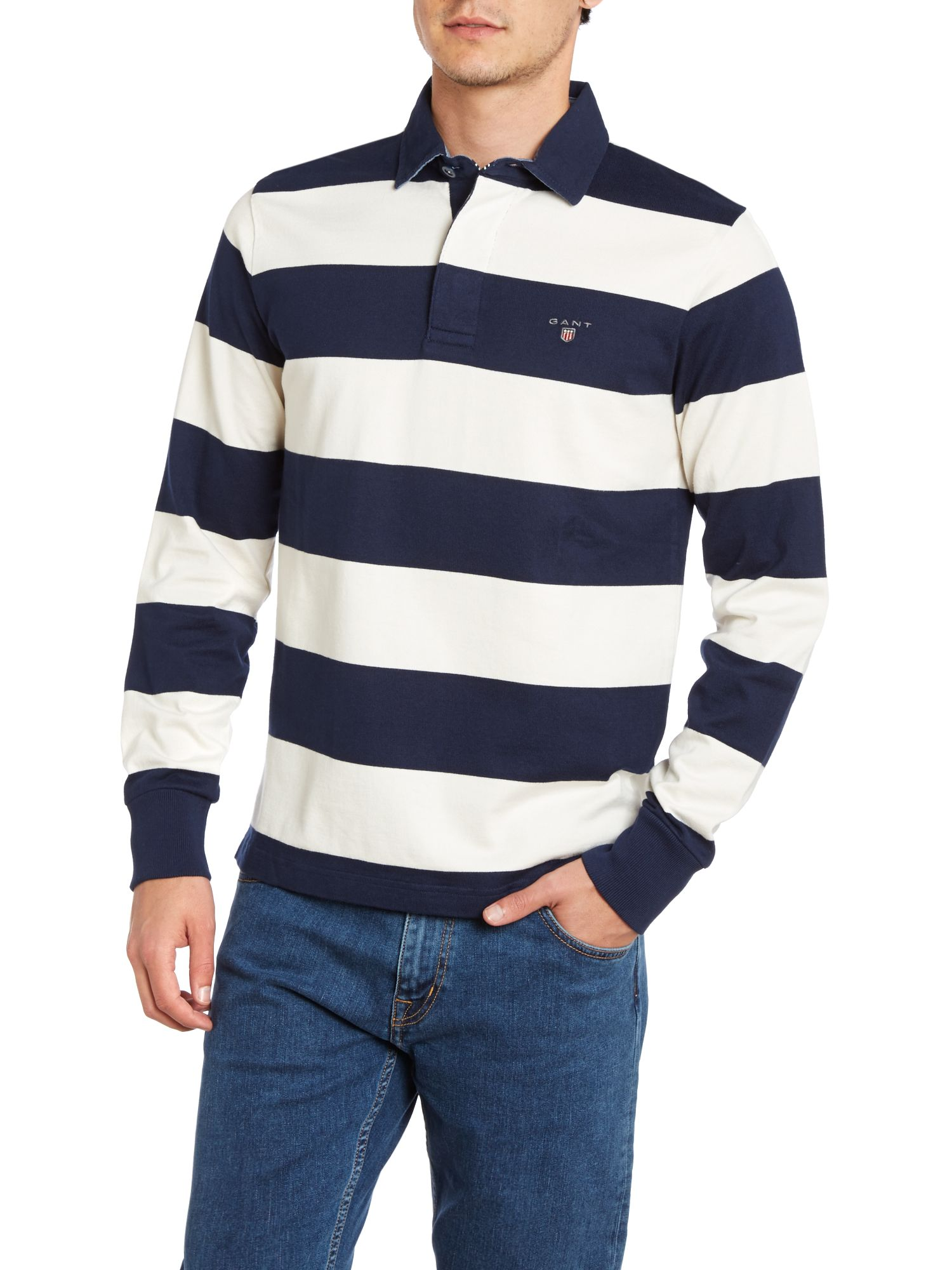 Long sleeve barstripe heavy rugger