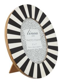 Oval stripe frame 5x7