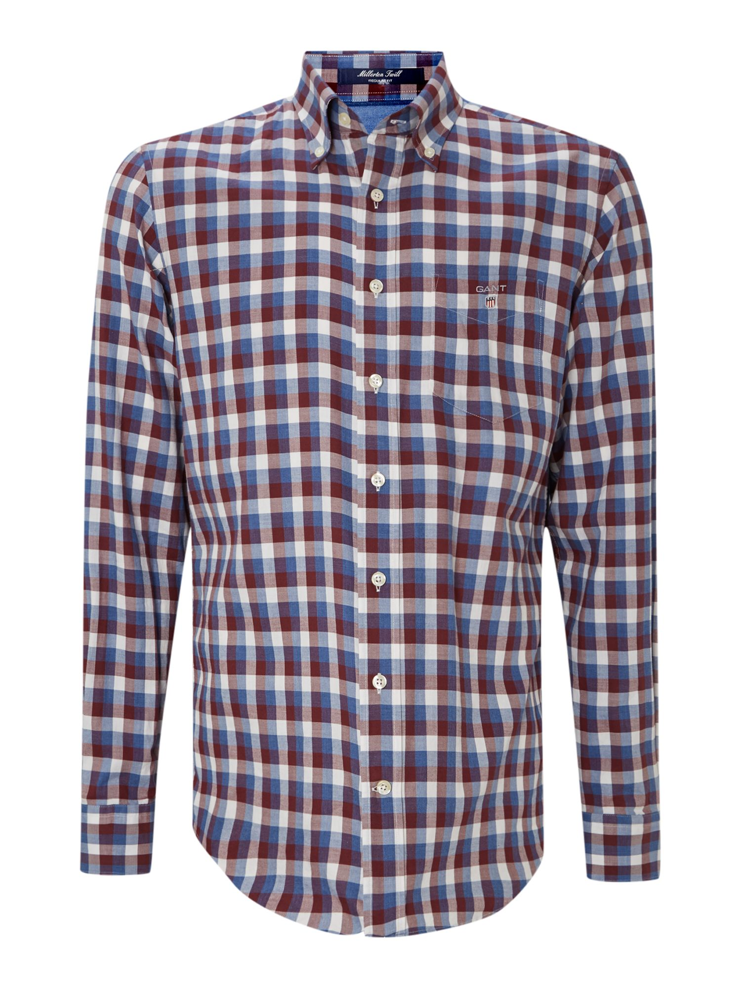 Long sleeve millerton twill check shirt