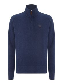 Sacker ribbed half zip collar sweatshirt