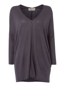 Vee neck oversized top