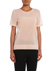 Short sleeve wiko top in cameo rose