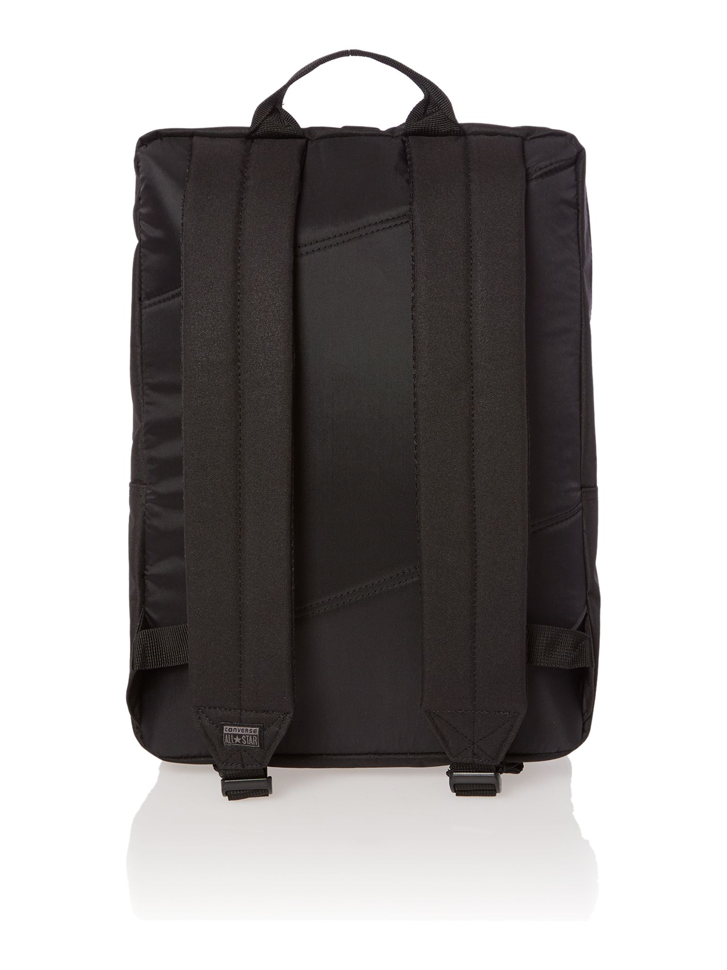 Diagonal zip backpack
