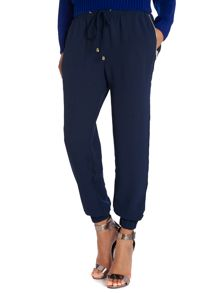 Zip pocket drawstring trouser