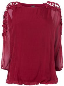Louise Silk and Lace Blouse