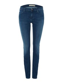 Mid rise slim jeans in satin mid stretch