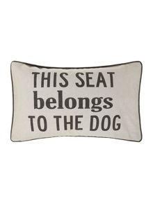 Reserved by the dog cushion 30x50cm