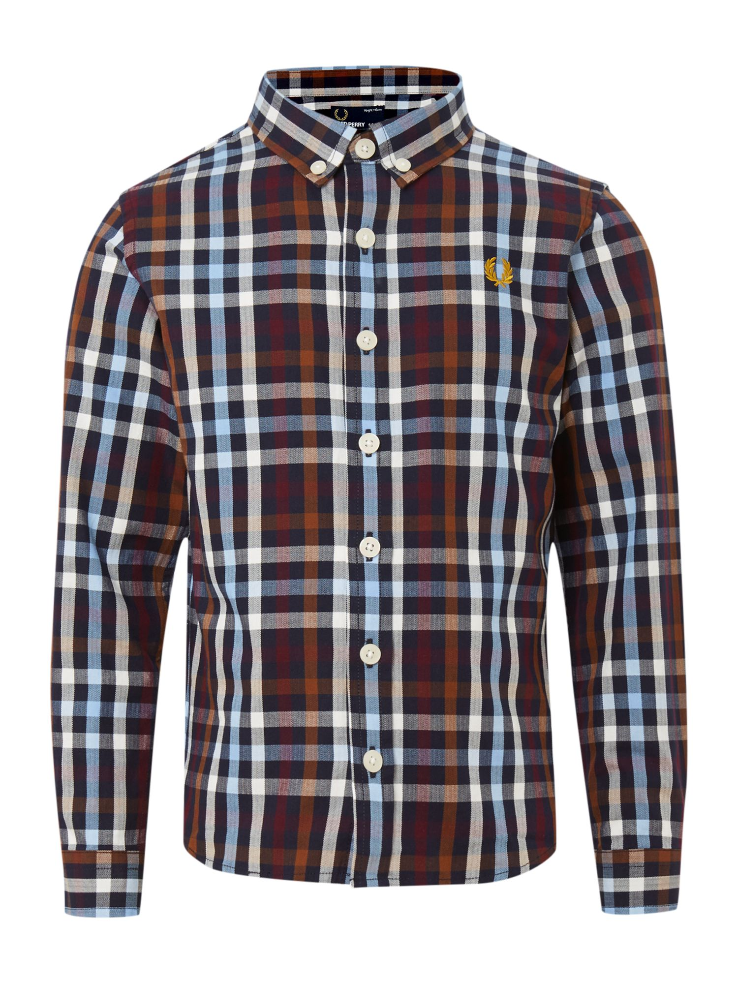 Boy`s multi check short sleeved shirt