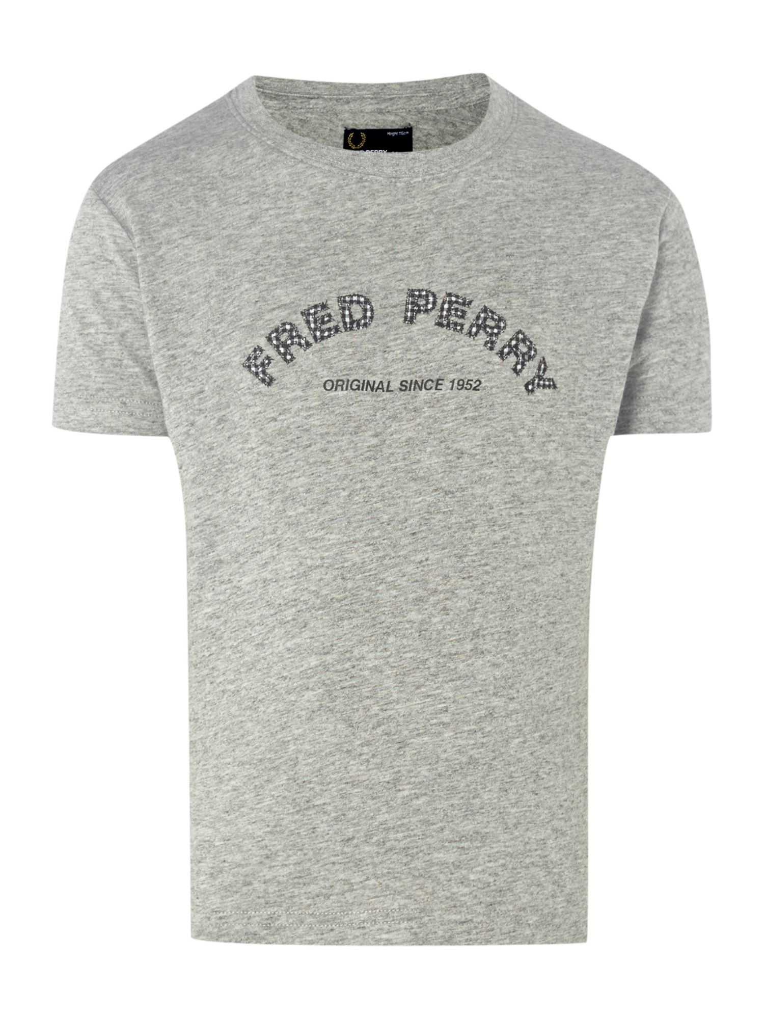 gingham fred logo  t-shirt