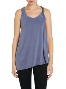 Calvin Klein Takara sleeveless top in blue indigo