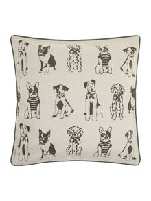 Dog multi print cushion