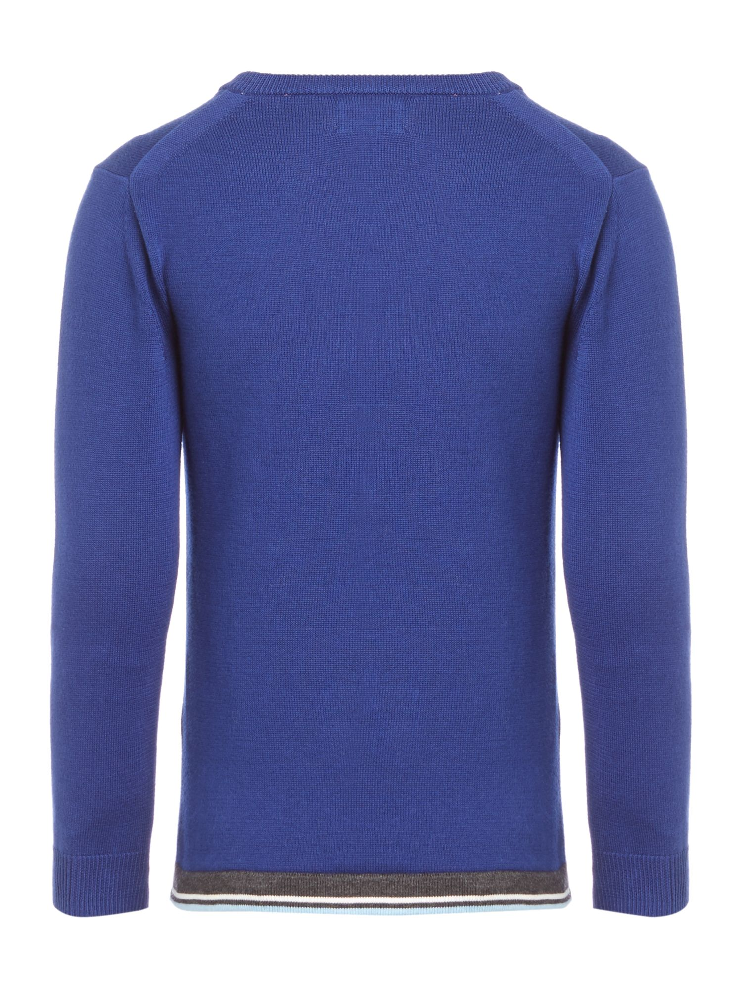 Tipped hem crew neck classic jumper