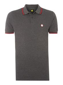 Pretty Green Striped collar polo shirt