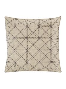 Mono Mark felt diagonal grid cushion