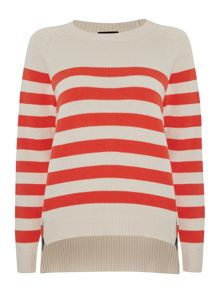 Stripe zip jumper