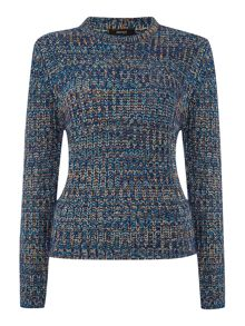 Mixed colour yarn jumper