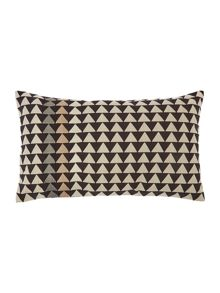 Mono Mark chevron print cushion