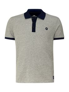 Regular fit herringbone polo shirt
