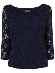 Lillie lace scoop neck top