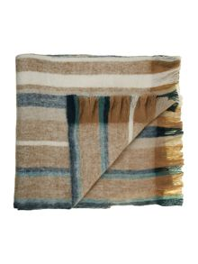 Maritime stripe faux mohair throw