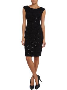 Novella cap sleeve sequin dress