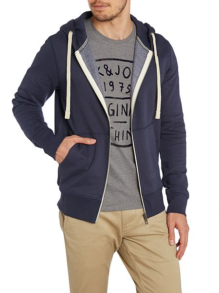jack jones storm sweat zip up hoody house of fraser. Black Bedroom Furniture Sets. Home Design Ideas