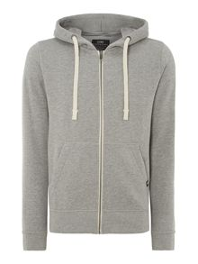 Zip thru hooded sweatshirt