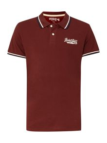 Regular fit tipped collar polo shirt